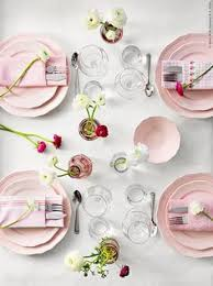ikea pink plates dinera 18 piece dinnerware set light pink rustic feel simple