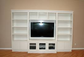 custom made modern painted entertainment wall unit by two rivers