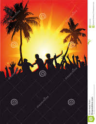 party silhouette tropical party silhouettes stock image image of trees 31914131