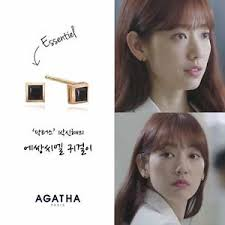 agatha earrings agatha 14k gold essentiel earrings drama doctors park shin