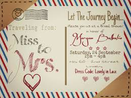 traveling from miss to mrs bridal shower invitation 5x7 digital