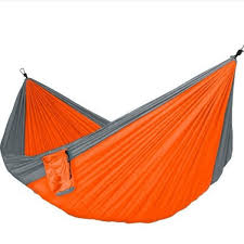 multi color outdoor camping traveling nylon net hammock sleeping