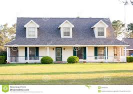 white ranch style american home stock photography image 23635192
