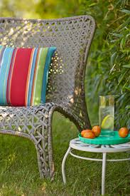 Garden Treasures Chair Cushions by This Woven Patio Chair Is A Great Mixture Of Style And Comfort