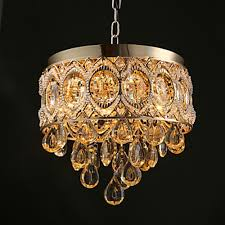 Metal Chandeliers Classic Gold Finish Golden Chagne Metal