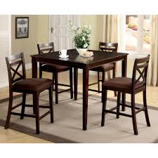 Small Dining Table For 2 by Furniture Of America Gizelle 5 Piece Counter Height Table Set