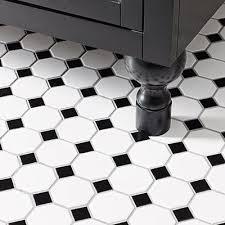 bathroom delightful black and white bathroom floor tile 12 black