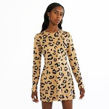 print dress me x reebok leopard print dress melody ehsani