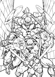 teenage mutant ninja all coloring pages for kids printable free