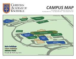 Knoxville Tennessee Map by Campus Map Christian Academy Of Knoxville