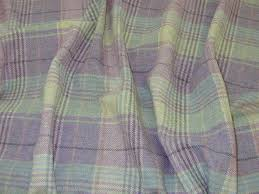 Plaid Curtain Material Wool Tartan Tweed Check Curtain Fabric Ruffled What Is