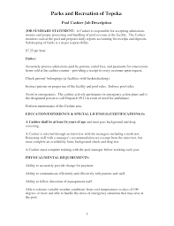 Leasing Agent Job Description Resume by Cashier Duties For Resume Resume For Your Job Application