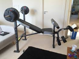 used maximuscle home gym bench press plus weights in mk9 keynes