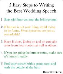 steps to planning a wedding 5 easy steps to write the wedding speech b e lucky in