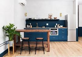 steal this look a boldly blue kitchen in philadelphia by jersey
