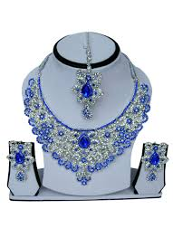 zircon blue necklace images Buy white n blue zircon stone necklace set stones necklace jpg