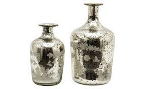 antique mercury glass floor l etched mercury glass bottles jayson home
