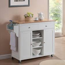 kitchen islands and carts rubberwood kitchen island cart free shipping on orders
