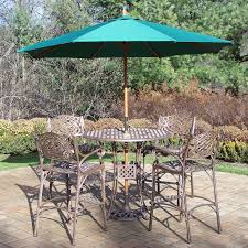 Patio Dining Set With Umbrella - belham living sorrento bar height 5 piece patio dining set hayneedle