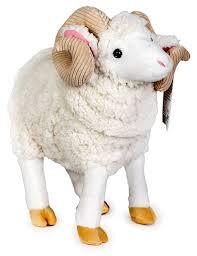 amazon com ruslan the ram 15 inch large ram sheep stuffed