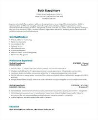 Receptionist Resume Templates 100 Resume Exles For Medical Receptionist Resume Example