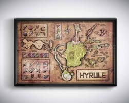 Termina Map Map Of Hyrule From Legend Of Zelda Ocarina Of Time English