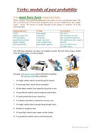 16 free esl past modals worksheets