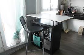 fabriquer une table bar de cuisine fabriquer une table haute simple in cuisine lyon luxe appartement