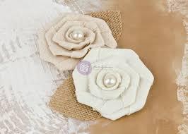 burlap flowers prima canvas burlap flowers la tela vintage pearl