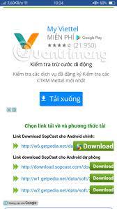 sopcast android apk tin tức công nghệ