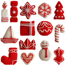 knitted christmas decorations originally from http www oddknit