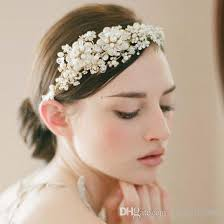 hair beading luxury wedding bridal hair accessories beading pearls