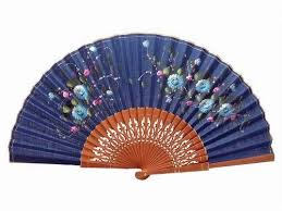 lace fans navy blue lace fan with painted flowers and polished pear