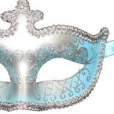 blue masquerade masks light blue and silver venetian masquerade mask painted