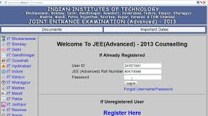 iit jee advanced web counseling login guide youtube