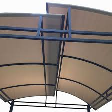 15 X 15 Metal Gazebo by Replacement Canopy For Barrel Roof Gazebo Riplock 350 Garden Winds