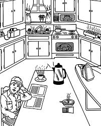 coloring pages of kitchen things waiting for breakfast in the kitchen coloring pages download