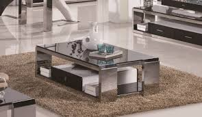 industrial modern coffee table coffee table interesting stainless steel coffee table designs