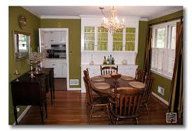 Green Dining Rooms Dining Room Olive Green Walls Living Room Gold Lights Scones