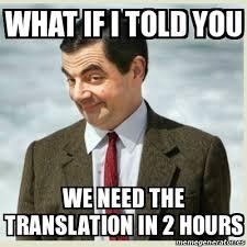 Translate Meme - de traduction établie en tenant