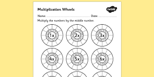 multiplication wheels worksheet multiplication wheels times