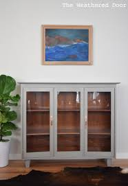 a china hutch turned modern cabinet and bleed through the