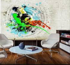 sports murals for bedrooms custom photo 3d room wallpaper non woven mural skateboarding