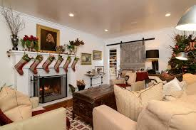 Traditional Living Room Interior Design - traditional living room with barn door u0026 christmas decor zillow