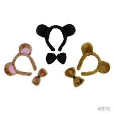 halloween bow ties bear ears u0026 bow tie costume set halloween bear costume kit accessory