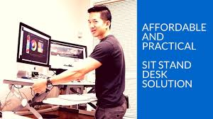 Best Sit Stand Desk Best Sit Stand Desk Review Of The Flexispot Sit Stand Desk Riser