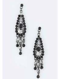 chandelier earrings black rhinestone chandelier earrings blue velvet vintage