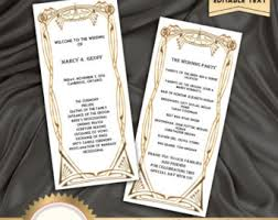 deco wedding program deco etsy