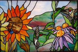 Flower Glass Design Stained Glass Windows Spectrum Stained Glass Studio