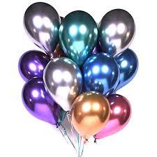 Party Balloons 12inch 50 Pcs Latex Metallic Balloons Birthday